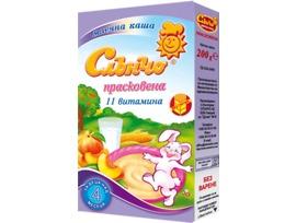 Слънчо Бебешка каша прасковена 11 витамина 200 г