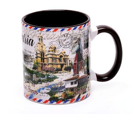 Чаша за кафе пощенска картичка България
