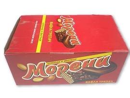 Вафла Морени с шоколад и фъстъци 36 г кутия 30 бр