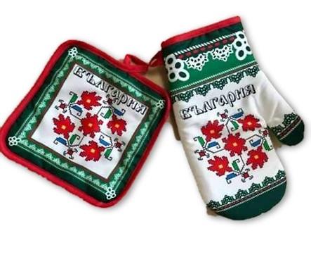 Комплект ръкохватки щампа българска шевица