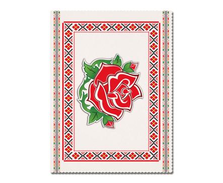 Покривка за маса Розa екрю 145 x 100 см