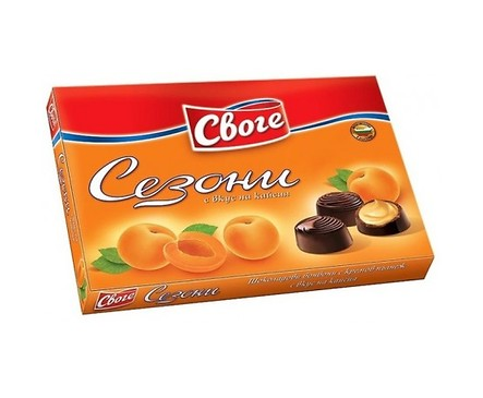 Бонбони Сезони Кайсия шоколадови 160 г