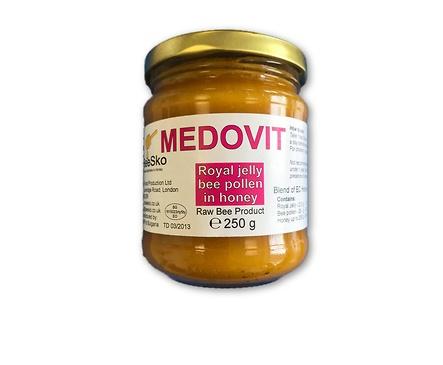 Medovit Български мед смесен с пчелно млечице и полен 250 мл