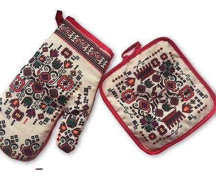Комплект ръкохватки Мели 1 щампа българска шевица