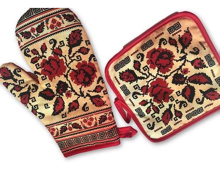 Комплект ръкохватки Мели 2 щампа българска шевица