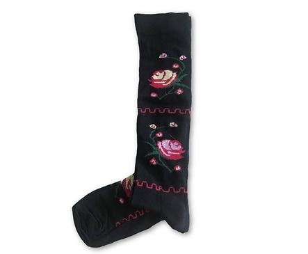 Дамски чорапи с български мотиви черни