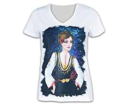 Дамска тениска момиче с носия модел 1 размер M