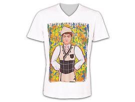 Мъжка тениска момче с носия модел 2 размер L