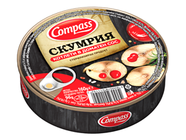 Компас Скумрия котлети в доматен сос 160 г