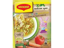 Maggi Супа цветни макарони с форма на горски животни 41 г