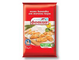 Фамилия Мини банички със сирене и праз 10 кг