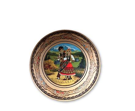 Дървена чиния сувенир