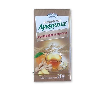 Чай Лукчета джинджифил и портокал ГО 24 г