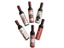 Магнит тирбушон във форма на бутилка българско вино 6 броя