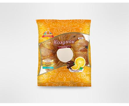 Козунак с портокал и шоколад 450 г