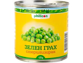 Филикон стерилизиран зелен грах 420 г