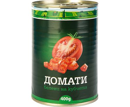 Филикон домати белени на кубчета метална кутия 400 г