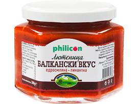 Филикон Балкански вкус едросмляна лютеница пикантна 380 г