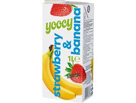 Йоси плодова напитка ягода и банан 1000 мл