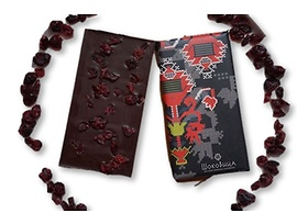 Шоковица черен шоколад с червени боровинки 60 100 г