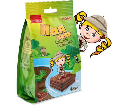 Ная Вафли мини какао 180 г