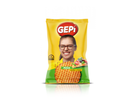 Гепи вафлен чипс пица 65 г