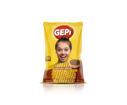 Гепи вафлен чипс шарена сол 65 г