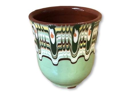 Чаша с троянска шарка Светло зелена