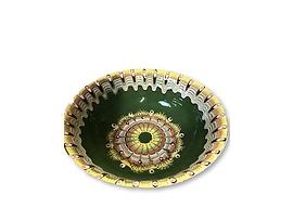 Зелена купа с троянска шарка