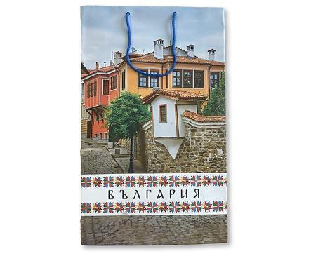 Подаръчна чанта със Стария Пловдив 2440 см