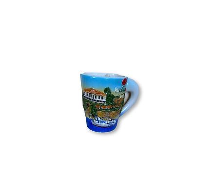 Чаша за кафе България с пейзаж и надпис