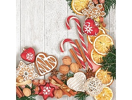 Коледни салфетки подходящи и за декупаж