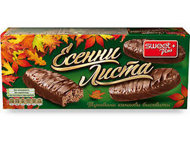 Бисквити Есенни листа тунквани какаови бисквити 135 г