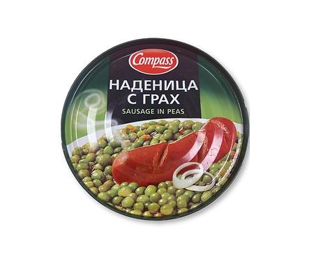 Компас Наденица с грах 300 г