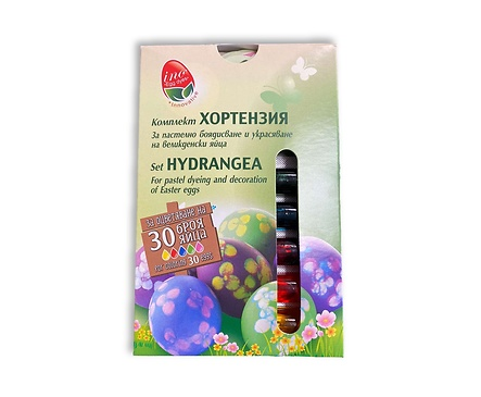 Пет комплект за боядисване на яйца ХОРТЕНЗИЯ 5 г