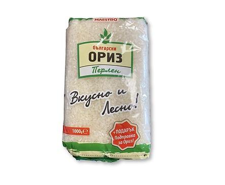 Маестро български ориз перлен безплатна подправка 10 кг