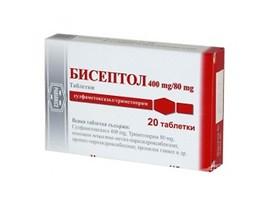 Бисептол 400мг80мг 28 таблетки