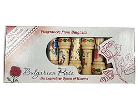 Комплект 10 дървени фиолки с розова есенция