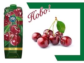 БББ плодова напитка Вишна 25 1000 мл