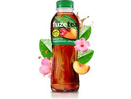 Студен чай Fuzetea праскова и хибискус 500 мл