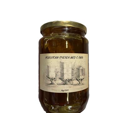 Родопски мед с пчелна пита 900 г