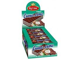 Вафла Синьо лято какао и кокос 60 г кутия 16 бр