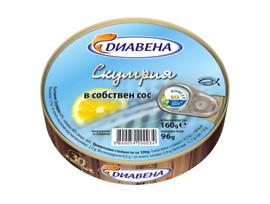 Диавена Скумрия в собствен сос 160 г