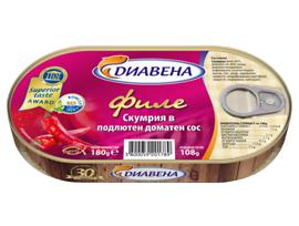 Диавена филе скумрия в подлютен доматен сос 180 г