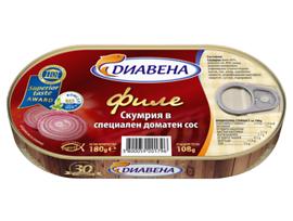 Диавена филе скумрия в специален сос 180 г