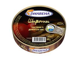 Диавена Шпроти в доматен сос 160 г