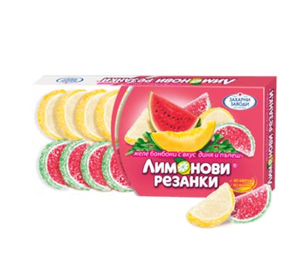 Захарни Заводи ГО Лимонови резенки диня и пъпеш 180 г