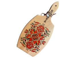 Сувенирна дъска с щампа шевица и надпис Bulgaria 14см х 29см