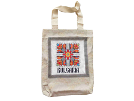 Чанта от лен с мотив Българска шевица