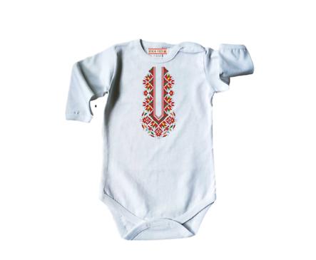 Бебешко боди с щампа български мотив 56см 1 3мес